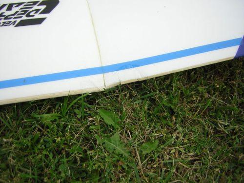 Krídlo po havárii
